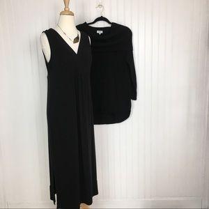 JJill Crown &Ivy bundle black dress sweater small
